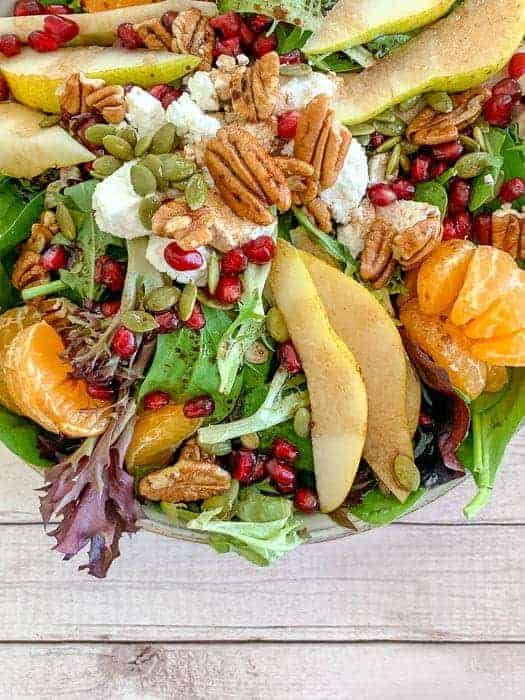 Pomegranate Balsamic Pear Salad