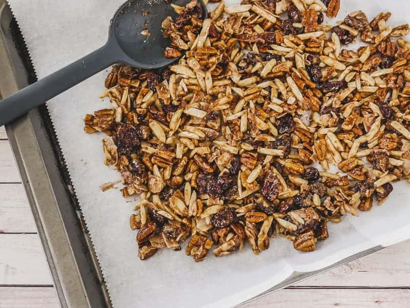 Cherry Nut Gluten-Free Granola is ready to eat!