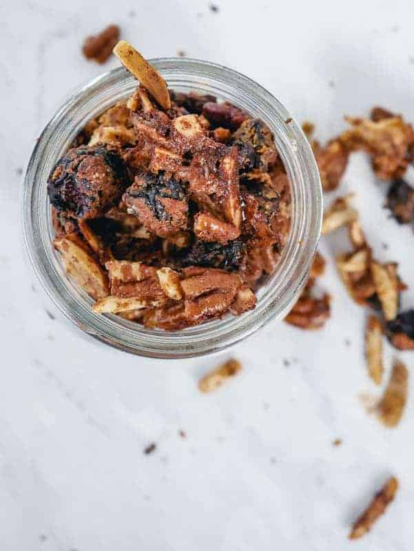 Store homemade granola in an air-tight container