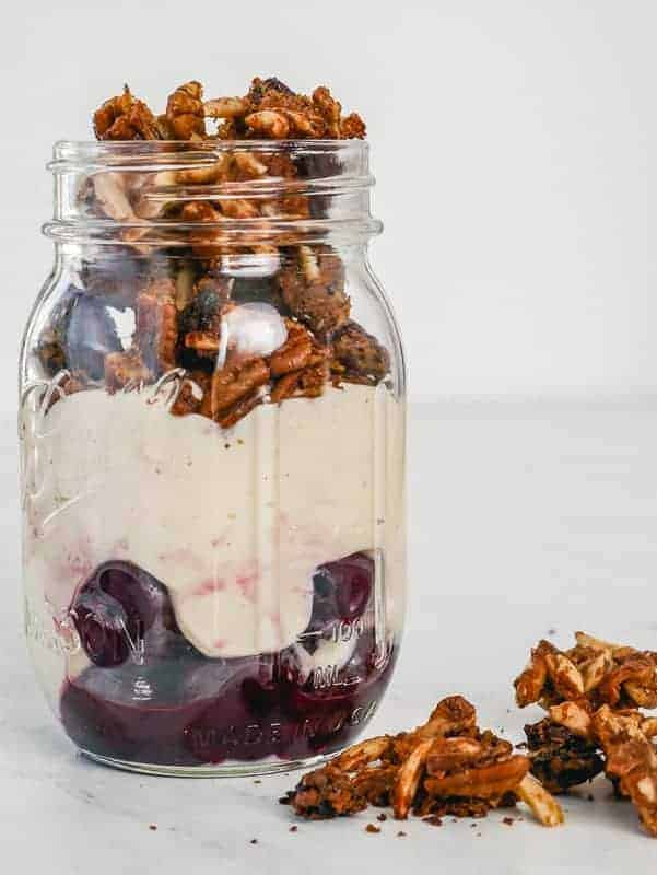 Cherry Nut Gluten-Free Granola Yogurt Parfait (Breakfast Meal Prep)