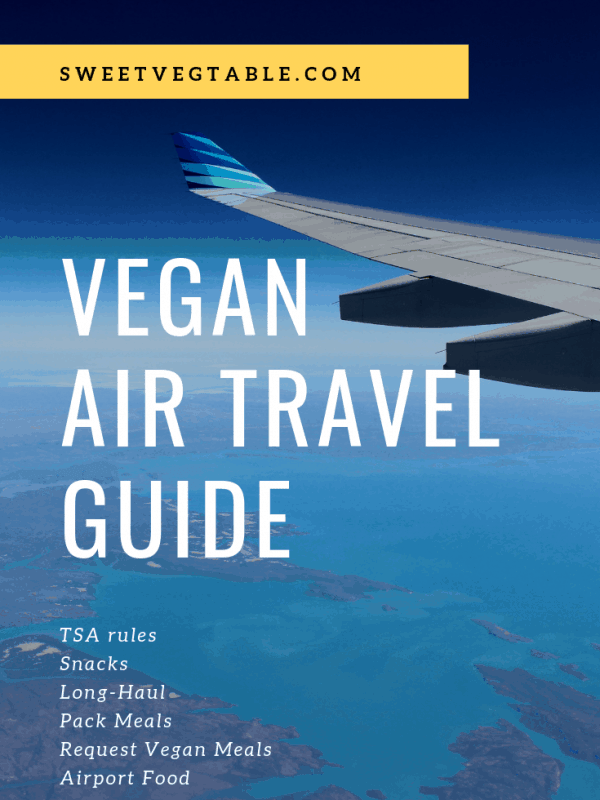 Vegan Air Travel Guide & Vegan Travel Snacks