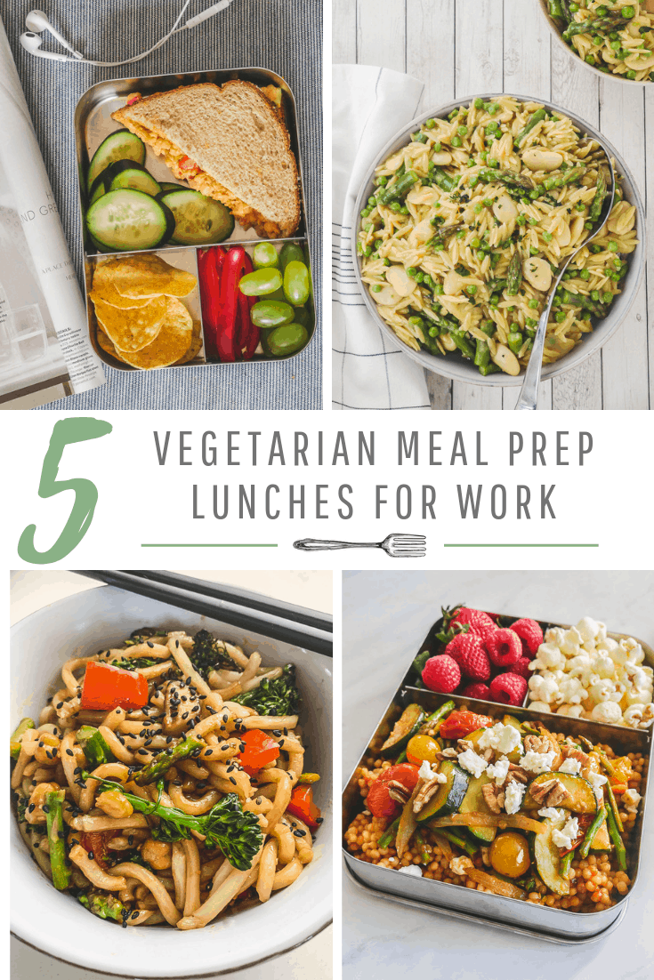 5 Vegetarian Meal Prep Lunches for Work