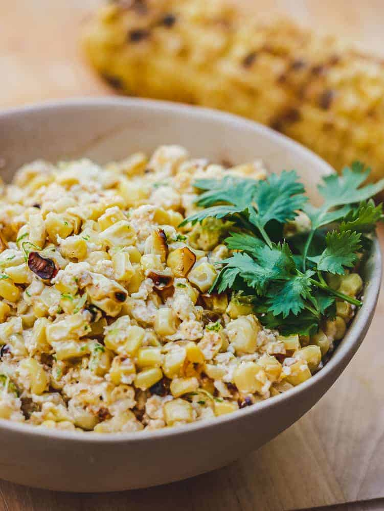 Mexican street corn salad is a perfect vegetarian BBQ Recipes