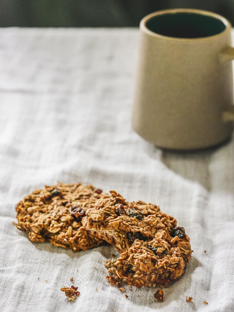Protein Breakfast Cookies on white cloth